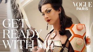 Violet Chachki's couture transformation for Fashion Week | Get Ready With Me | Vogue Paris