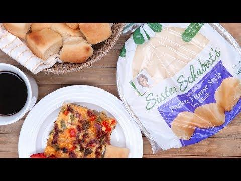 Sister Schubert's Yeast Rolls + Tater Tot Breakfast Casserole=😍