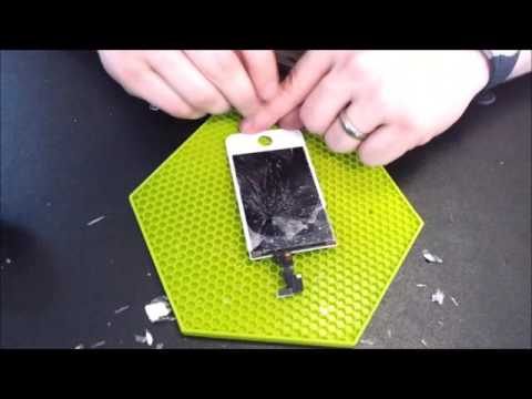 How to separate iphone lcd from digitizer the easy way www.daytechrepair.com