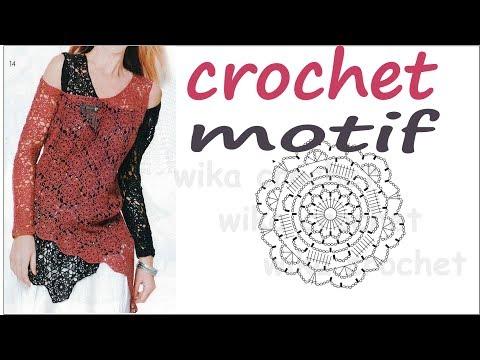 CROCHET Flower Motif Pattern Wika crochet
