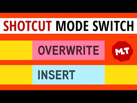 Shotcut Insert/Overwrite Enable/Disable On/Off