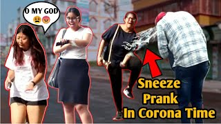 Sneeze Prank On Cute Girls In  C0R0Na Time  // Amazing Reaction Ever // Prank Shala