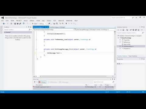 C# Lesson 06 - Windows Form Output (Label)