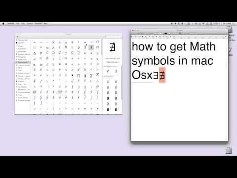 how to get Math symbols in mac
