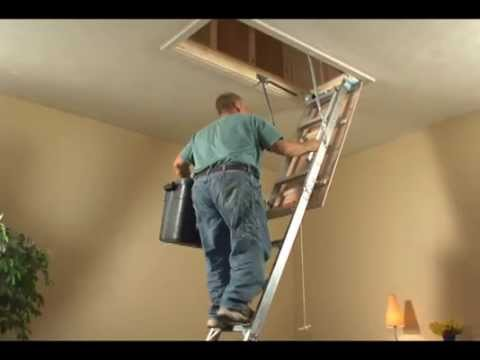 Keller - Aluminum Attic Ladder Brief Installation Video