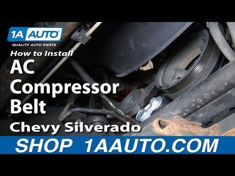 How To Install Replace AC Compressor Belt Chevy Silverado GMC Sierra 4.8L 5.3L 6.0L 99-07 1AAuto.com