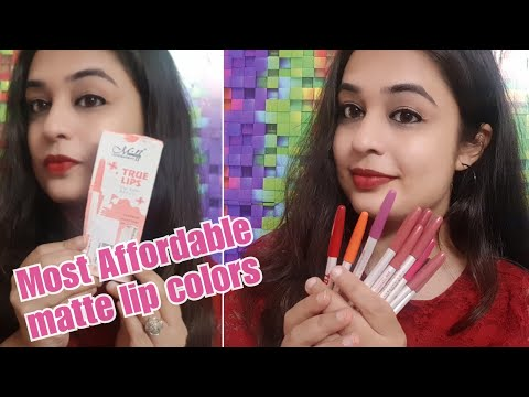 Rs 25 matte lip color ??? /Affordable matte Lip colors in India / BeautyBigBang