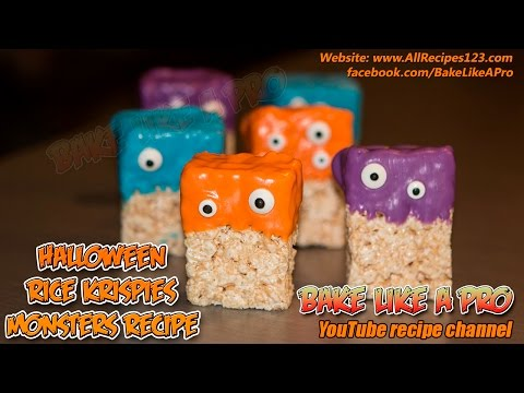 Halloween Rice Krispies Monsters Recipe