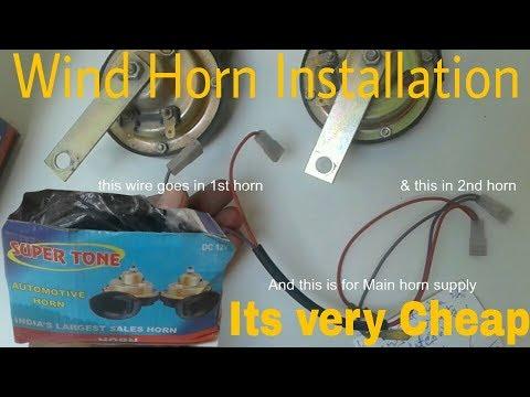 How to install aftermarket Horn in Maruti Suzuki Wagon R |Horn Installation|