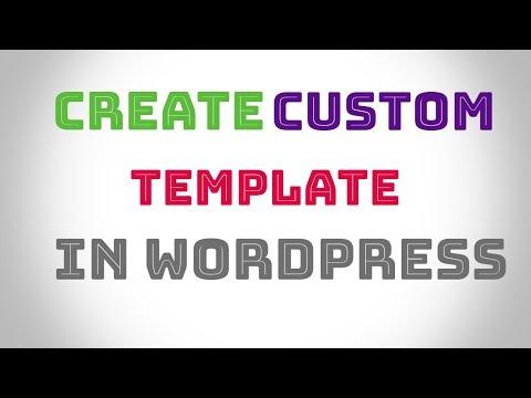 How to create custom template , page in WordPress urdu hindi