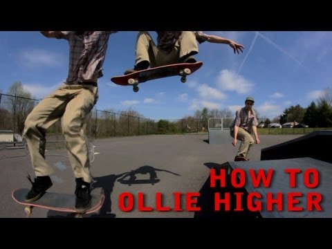 How To Ollie Higher On A Skateboard For Beginners While Moving - Trick Tip
