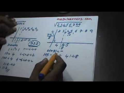 18. Vedic Mathematics - Squareroots -2 (For Any Number)
