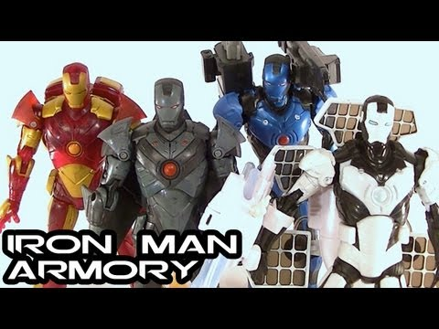 IRON MAN 1 Movie Figures Concept Armory Review: Standard Variants