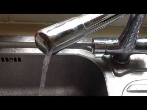 Kitchen Mixer tap hot water very low pressure.