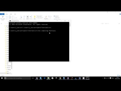 Edit, Compile and Run Java Code using command Line
