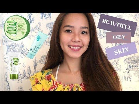 How I cleared up my oily skin | Aloe Vera |Korean Skin Products