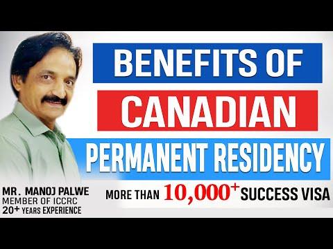 What benefits a Canadian PR holder gets?