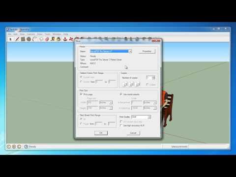 Convert Google SketchUp to PDF