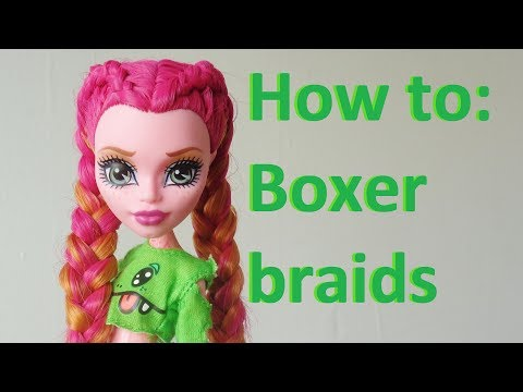 How to: Make Cornrows / Dutch braids on doll hair (by EahBoy)