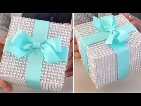 DIY| TIFFANY INSPIRED DIAMOND MESH WEDDING BOX DECOR/ SOME DOLLAR TREE ITEMS