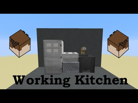 Working Kitchen in Minecraft (Oven, Stove, Fridge, and Sink!)