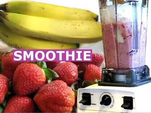 How To Make Strawberry Banana Smoothie A Healthy Milk Shake Drink Quick Recipe Jazevox HomeyCircle