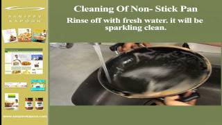 Cleaning Of Non  Stick Pan