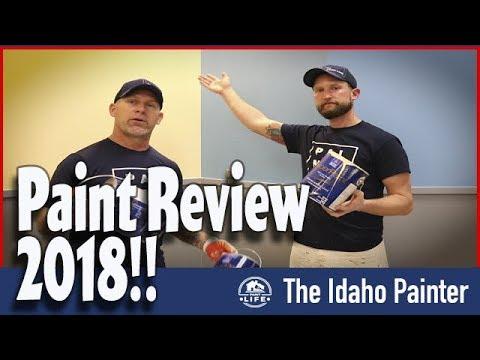 CAUTION paint splatter!!!  Sherwin Williams SuperPaint Review