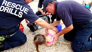 🚨EMERGENCY POOL DROWNING RESCUE...🌊 CPR AND WATER SAFETY DRILLS AND TRAINING