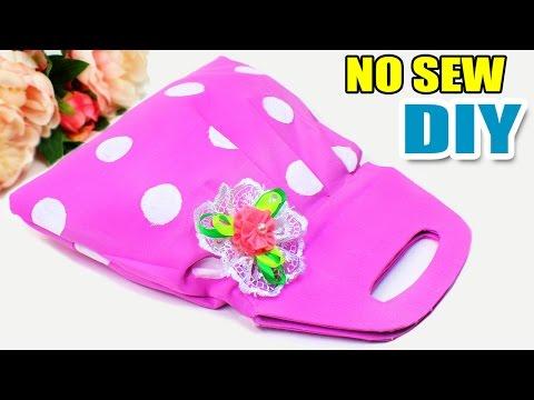 DIY BAG TUTORIAL NO SEW   Handbag DIY Idea Purse   EASY