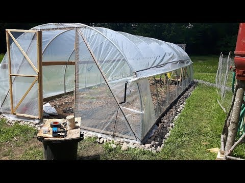 DIY Tunnel Greenhouse Build - full process