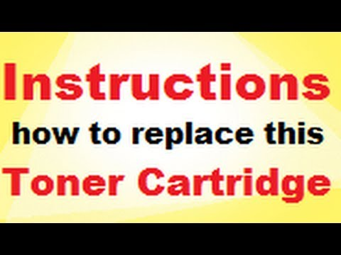 Instructions How To Replace a Q2612A 12A and Q2612X 12X toner cartridge in a HP LaserJet 1020
