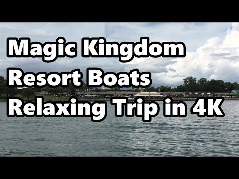 Magic Kingdom Resort Boats | Relaxing Trip from Grand Floridian to Polynesian & Magic Kingdom in 4K