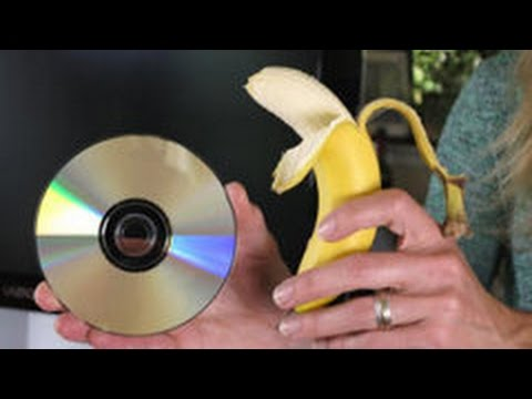 Remove Scratches of a DVD or CD Using A Banana. 100 % Works