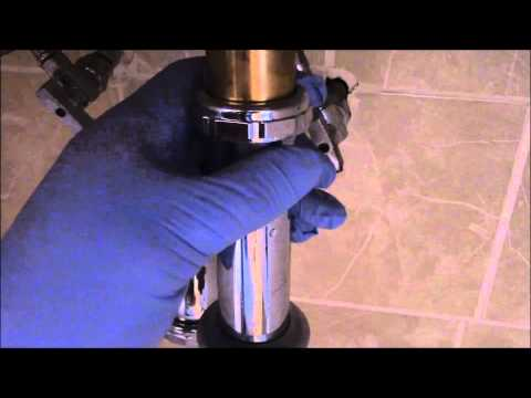 How To Fix A Clogged Bathroom Sink Drain / Waste Pipe Stopper Disassemble Reassemble Instructions