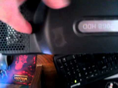 Removing Xbox 360 hard drive.