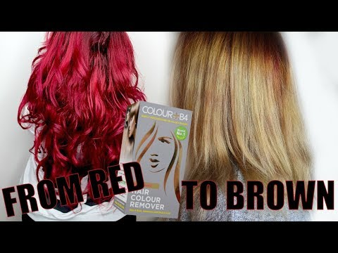 From Red To Blonde With Hair Color Remover COLOR B4
