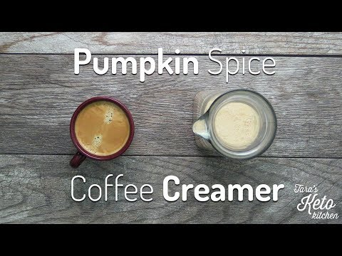 Pumpkin Spice Coffee Creamer: Low Carb, No Sugar, Keto Coffee Creamer. YUM!
