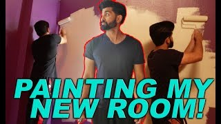 PAINTING MY NEW ROOM! - DhoomBros (ShehryVlogs # 113)