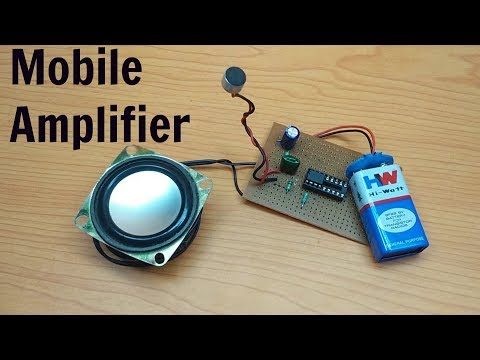 Simple Hack a microphone into cell  phone speaker amplifier