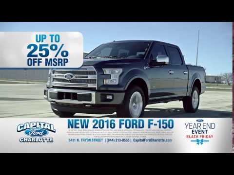 Save Thousands During the Black Friday Sales Event at Capital Ford Charlotte!