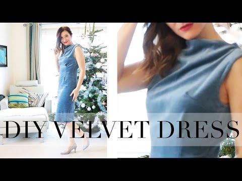 How to Make a Velvet Sheath Dress   BurdaStyle   Dress Tutorial   Szilvia Bodi