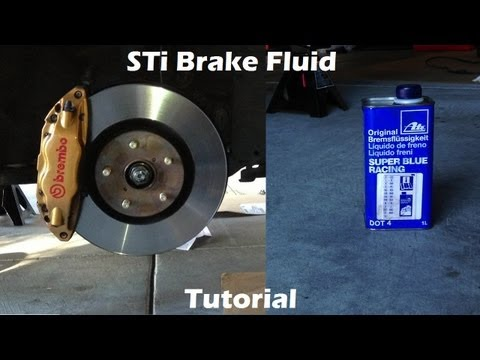 Tutorial: Learn How to Change Brake Fluid on 2006 Subaru WRX STi