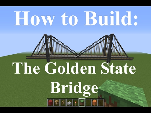 Minecraft - How to Build The Golden Gate Bridge - Fast and Easy