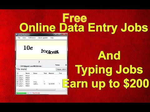 Online Typing & Data Entry Job from Home All world