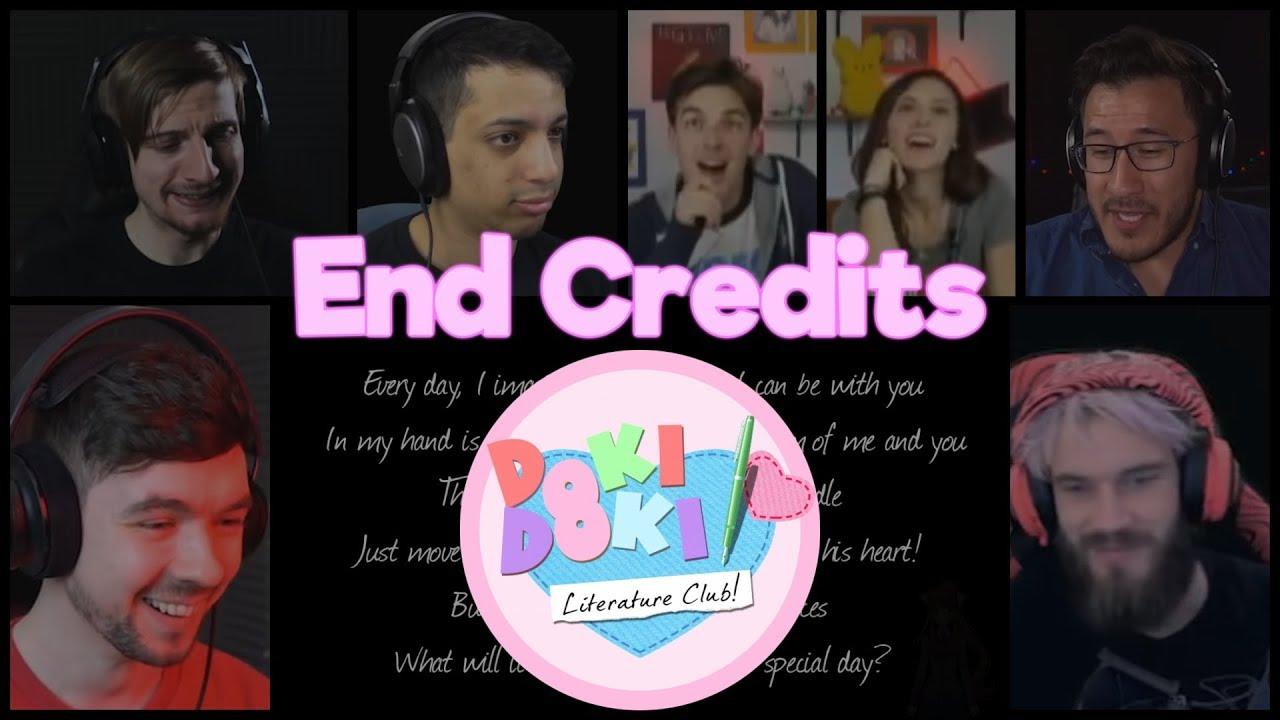 Doki Doki Literature Club - End Credits (Reaction Mashup)