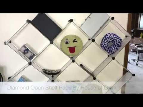 Diamond Open Storage Rack
