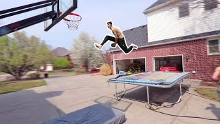 WORLD'S BEST TRAMPOLINE BASKETBALL TRICKSHOTS!