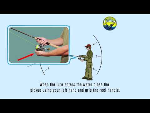 How to cast a Spinning reel - Overhead Cast