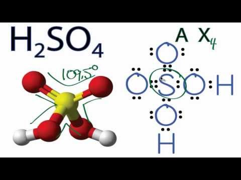 H2SO4 Molecular Geometry / Shape and Bond Angles